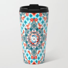 Decorative Lovebirds Travel Mug