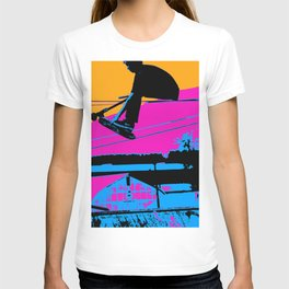 Tail Grabbing High Flying Scooter T-shirt