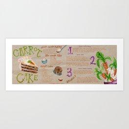 Carrot Cake Recipe  Art Print