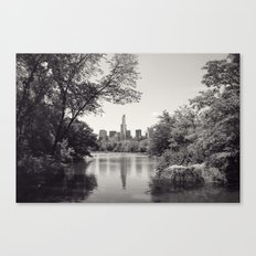 Central Park from Bow's Bridge Canvas Print