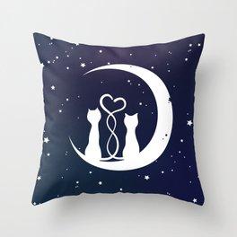 Loving Cats Throw Pillow
