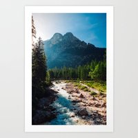 river Art Prints featuring River by Tomas Hudolin