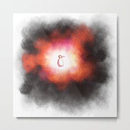 Beginning or Implosion Metal Print