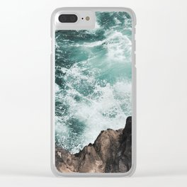 WAVES 002 Clear iPhone Case