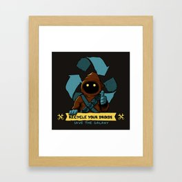 Recycle your droid Framed Art Print
