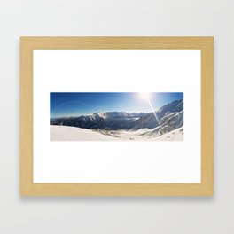 Pirin mountains panorama Framed Art Print