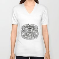 ornate V-neck T-shirts featuring Ornate by RifKhas