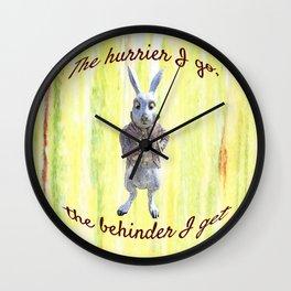 White Rabbit shares his wisdom Wall Clock