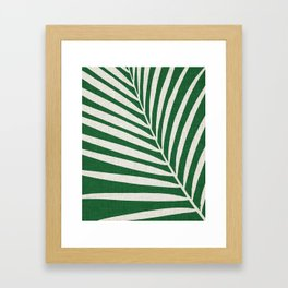 Minimalist Palm Leaf Framed Art Print