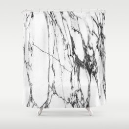 Classic White Marble #1 #decor #art #society6 Shower Curtain