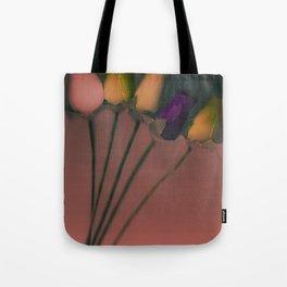Plastic Flowers Tote Bag