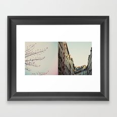 Pastel Paris Diptych Framed Art Print