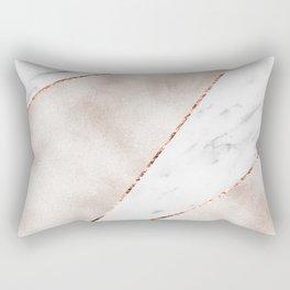 Spliced rose gold marble Rectangular Pillow