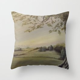 Blissful Meadow Throw Pillow