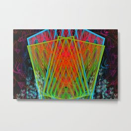 A Psychedelic Hand of Cards Metal Print