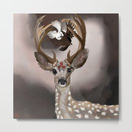 Deer's Balance  Metal Print