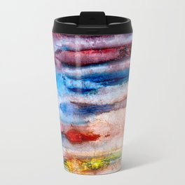 Antique Painted Lined Grunge Travel Mug