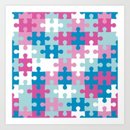 Puzzle abstract pattern Art Print