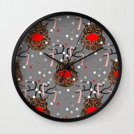 Funny Reindeer Wall Clock