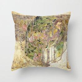 Margaret Macdonald Mackintosh Sleeping Princess Throw Pillow