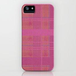pink madras iPhone Case