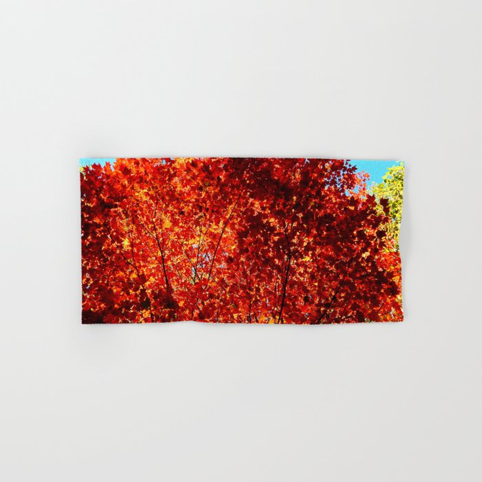 Red Maple Explosion Hand & Bath Towel