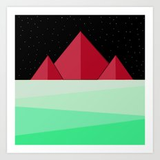 Mountain Design Art Print