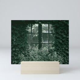 Cottage window vintage Mini Art Print