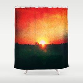 Heated Skyline Shower Curtain