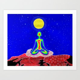 Lotus Moon Art Print