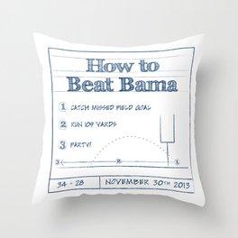 How to Beat Bama 2 Throw Pillow