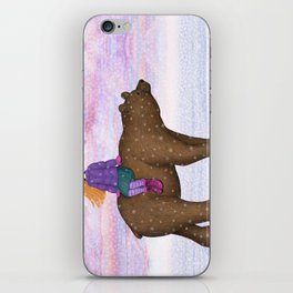bear ride iPhone Skin