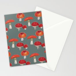 Mushrooms Pattern  Stationery Cards