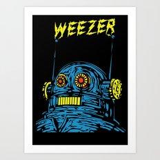 Weezer Monster Art Art Print