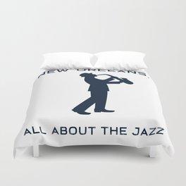 New Orleans Music Festival Jazz Saxophone Musician Design Duvet Cover