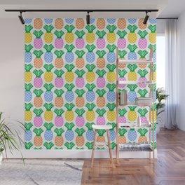 Pineapple Pattern Wall Mural