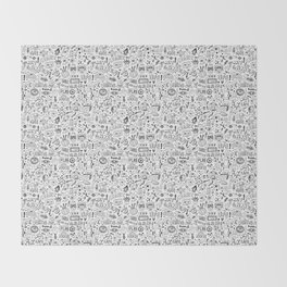 Video Games Pattern | Gaming Console Computer Play Throw Blanket