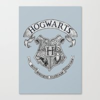 hogwarts Canvas Prints featuring Hogwarts by Cécile Pellerin