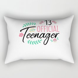 13 Official Teenager Girls Birthday Gift Rectangular Pillow