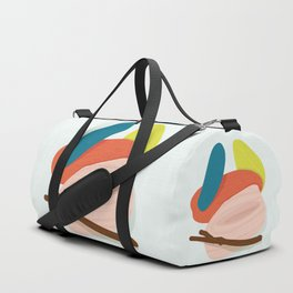 Sticks and Stones - Modern Abstract Duffle Bag