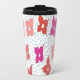 Celebration Flowers and Dots Travel Mug