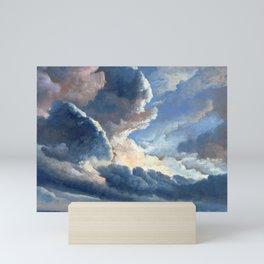 Simon Alexandre Clément Denis Study of Clouds with a Sunset near Rome Mini Art Print