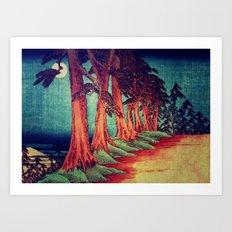 Midnight on the path towards Kanama Art Print