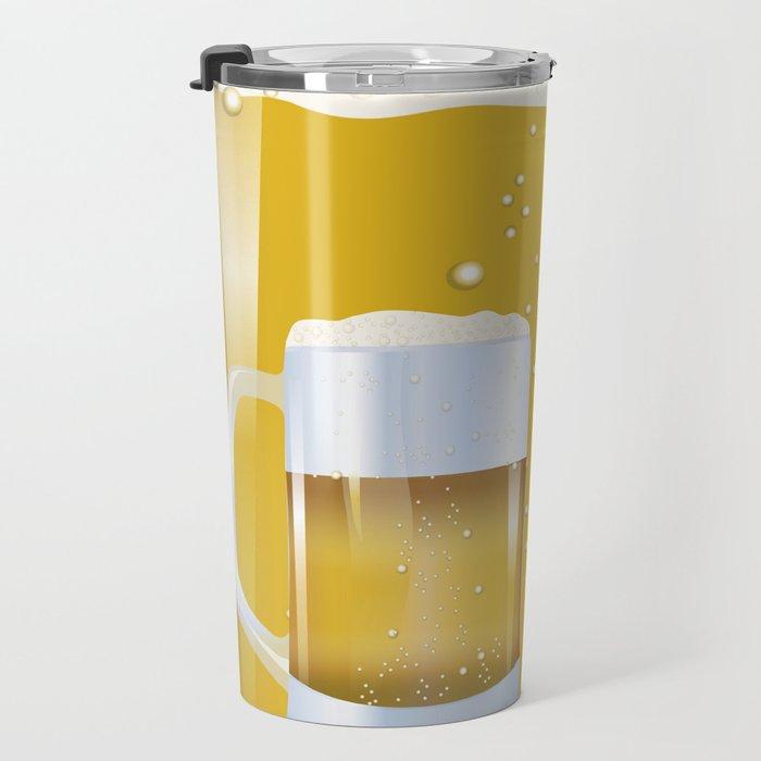 illustration of beer glass, Beer Travel Mug