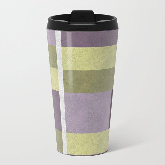 Geometric Marble 05 (abstract) Metal Travel Mug