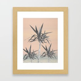 Palm Trees - Cali Pastel Summer Vibes #1 #decor #art #society6 Framed Art Print