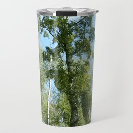 Nature. Blue Sky, Green Trees Travel Mug