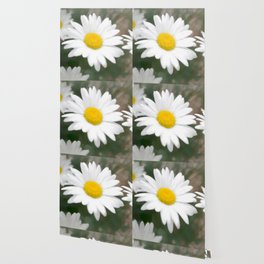 Daisies flowers in painting style 6 Wallpaper