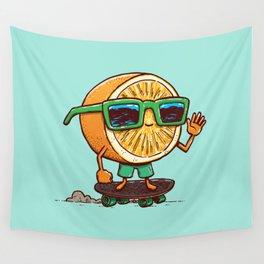 The Orange Skater Wall Tapestry