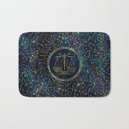 Libra Zodiac Gold Abalone on Constellation Bath Mat